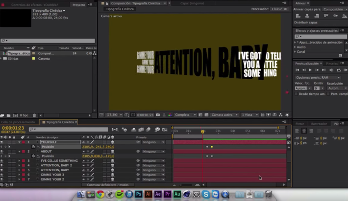 Tutorial After Effects: Texto Cinético