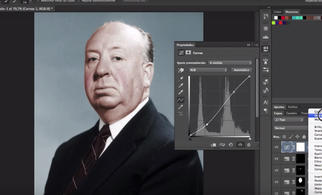 Tutorial Photoshop Avanzado: Colorización de Fotos en Blanco y Negro